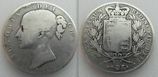 Scarce Collectable Silver 1844 - Queen Victoria - Crown Coin.  - CINQUEFOIL