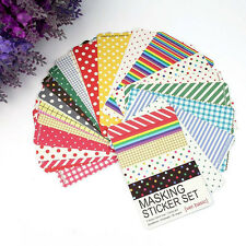 27Pc/Lot Colorful Decorative Washi Masking Tape Craft Stickers Pack Labelling