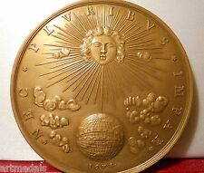 """1674 FRANCE LOUIS XIV HISTORICAL MEDAL """" THE KING'S MOTTO """" SUN KING"""