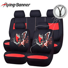 Car Seat Covers red Flying banner wash print butterfly  Universal embroidery