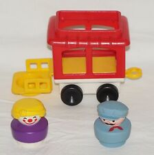 Vintage 1991 Fisher Price Chunky People Circus Train Caboose Clown Engineer