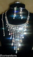 BRIDAL/WEDDING  Crystal/Diamonte Necklace Set **79**