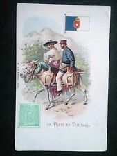 H513. CPA. LA POSTE EN PORTUGAL. ILLUSTRATION. 1902