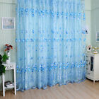 Floral Door room Window Scarf Sheer Curtain Drape Panel Voile Valances 2x1M