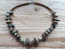 Schmuck Modeschmuck Halskette braun Holz Holzkette Damen (1606DE7$)