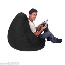 Bean Bag Factory Adult Size Black Plush Velour Bean Bag CHAIR COVER ONLY!