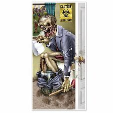HALLOWEEN Walking Dead Party ZOMBIE RESTROOM Bathroom DOOR COVER Decoration Prop