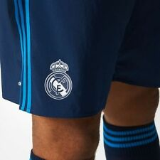 brand new real madrid shorts mens blue away adidas