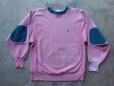 Vintage 90s Champion Distressed Reverse Weave Sweatshirt Sz L Pink Made in USA