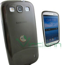 Pellicola+Custodia PERFECT FIT p Samsung Galaxy S3 i9300 Neo i9301 soft grey TPU