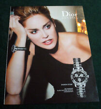 Sharon Stone 1-pg large format magazine clipping 2007 ad for Dior