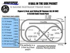 LIONEL FASTRACK 8 BALL IN THE SIDE POCKET LAYOUT track pack 5'X9' o gauge NEW