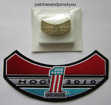 Harley Davidson HOG 2010 Patch & Pin Set **NEW** FREE U.K. POSTAGE!