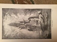 u1-3 ephemera 1890 religious book plate jacob's dream
