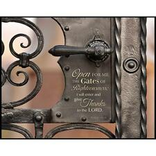 """OPEN FOR ME THE GATES OF RIGHTEOUSNESS Psalm 118:19, Mounted Print, 14"""" x 11"""""""