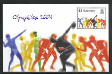 Guernsey 2004 Summer Olympic Games ss--Attractive Sports Topical (848) MNH