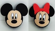 Disney - Mickey Mouse Face & Minnie Mouse Face Antenna Toppers Lot of 2