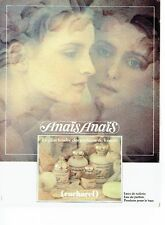 PUBLICITE ADVERTISING 0217  1981  eau toilette parfum Anais Anais Cacharel