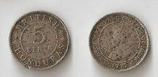 British Honduras 5 cents 1912 H Rare!