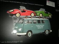"""1:18 Schuco VW T1 Bus """"Kleinschnittger"""" mit 2x Kleinschnittger F 125 OVP"""