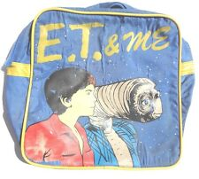 VINTAGE Original E.T. & ME Shoulder BLUE COLORFUL TOTE BAG
