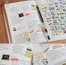 6 Sheets Transparent Calendar Diary Book Scrapbook Sticker Lot Lovely Pattern EY