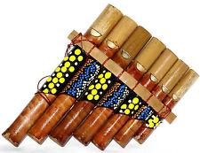 Flûte de Pan Bambou Instrument Musique Peint Aborigène Panpipes Bamboo