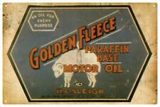 GOLDEN FLEECE MOTOR OIL TIN SIGN  20 x 30cm