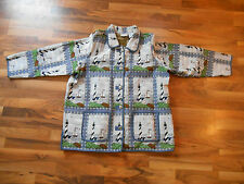Blair 3XL Jacket Blazer Coat Anchor Button Up Lighthouse Sailboat Nautical Print
