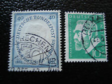 ALLEMAGNE RFA - timbre - Yvert et Tellier n° 85 86 obl (A1) stamp germany