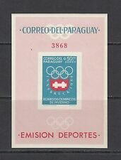 OLYMPICS -Paraguay - 1963 sheet of 1 - IMPERF -(SC 790A)-MNH-B221