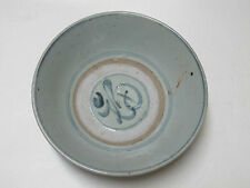 Antique large Chinese Ming Dynasty Blue and White Porcelain Bowl