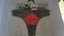Ann Summers Charlotte Red & Black Thong Size 8 New With Tags In Packet