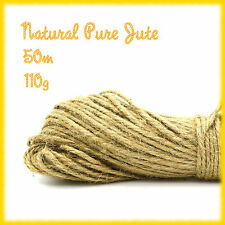 100m (50m x 2 bunch) 3 Ply Tidy Pure Jute Twine String Crafts Shabby Chic