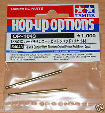 Tamiya 54043 TRF501X Damper Hard Titanium Coated Piston Rod (Rear/2 Pcs.), NIP