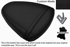 BLACK STITCH CUSTOM FITS SUZUKI TL 1000 R 98-02 REAR LEATHER SEAT COVER