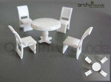 Set Of 5 Model Table with 4 Chair for diecast 1:50, railway O gauge