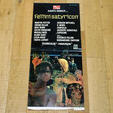 FELLINI SATYRICON locandina poster affiche Federico Fellini Martin Potter