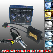 55W H4 H/L HID Bi-Xenon Motorcycle Headlight Motorbike Lamp Ballast Kit 6000K