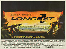 "The Longest Day 1962 16"" x 12"" Reproduction Movie Poster Photograph"