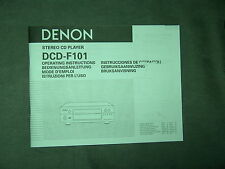 Manuale d'uso DENON dcd-f101 STEREO CD PLAYER