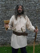 Medieval Style Tunic Top,  Re-enactment Viking, LARP, LARGE - Wheat colour
