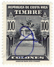 (I.B) Costa Rica Revenue : Duty Stamp 100C