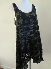 Free People OB405008 Floral Print Voile Trapeze Slip Dress Midnight Comb XS NWT