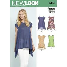 NEW LOOK SEWING PATTERN MISSES' EASY KNIT TOPS TOP SIZE 6 - 18 6453