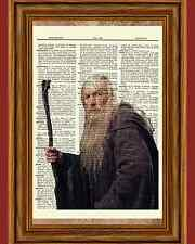 Gandalf Lord of the Rings Dictionary Art Print Book Page Tolkien LOTR Picture