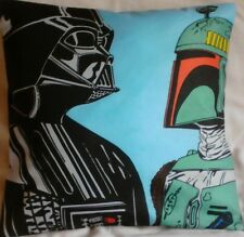 Star Wars Darth Vader and Boba Handmade cushion cover/ pillow case 16 x 16 inch