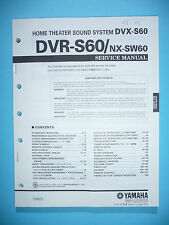 Service Manual für Yamaha DVR-S60/NX-SW60  ,ORIGINAL