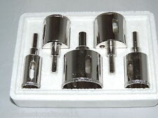 5pc DIAMOND HOLE SAW Set Drill Tile Glass Marble Granite Slate Cutting Set