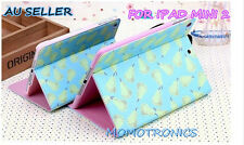 pear blue iPad mini 2 Leather Flip Cover Case AUTO Wake/Sleep function